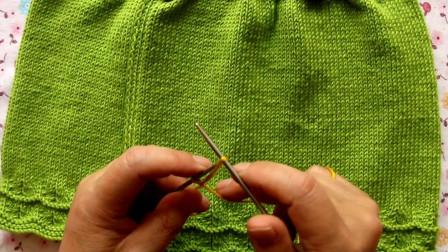双排衣背心裙手工编织视频教程一,适合女孩穿的背心裙,新手易学