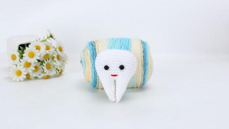 娟娟编织 今天钩一个牙宝宝, 送给掉了第一颗乳牙的宝贝