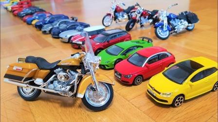汽车玩具挖掘机工程车:上百辆玩具车排成一排,你最喜欢哪一辆?