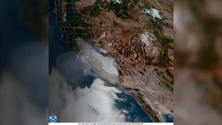 太空看地球:那是美国西海岸的火灾