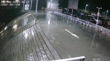 小车冲下河坝撞上画舫游船 监控还原惊险瞬间