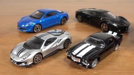 挖掘机工程车汽车玩具:汽车玩具开箱试玩,超多款跑车系列!