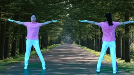 晨曦悠扬健身操第十六套第二节腰摆运动教学版
