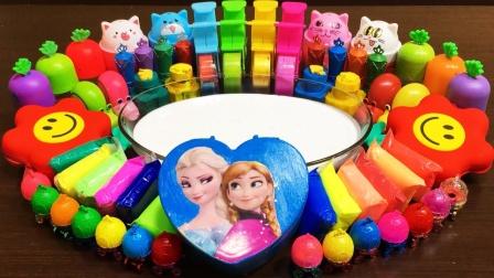超好玩的史莱姆混泥大作战,亮片,黏土珠子玩具趣味手工玩具!