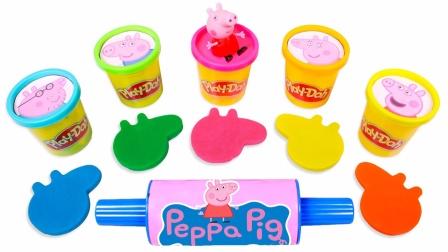 小猪佩奇玩具故事:超多好玩的橡皮泥居然做出各种颜色的小猪佩奇