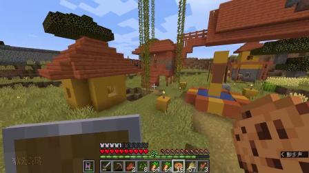 我的世界:粉丝在存档里制作自动采集农场,收集胡萝卜很方便