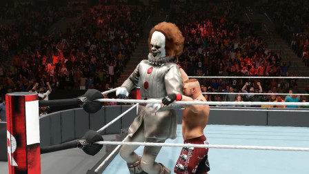 巨人小丑对战摔跤壮汉,小丑遇到了对手