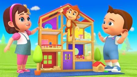 DIY儿童木屋 儿童趣味游戏