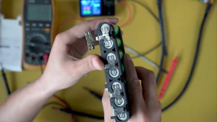 DIY大功率点焊机搞0.3镍片测试 正好遇到一组新电池原厂镍片虚焊 测试一下严重动力电池组镍片焊接