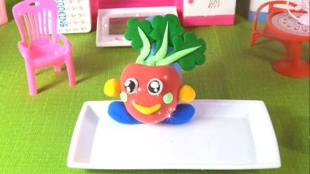 卡通粘土玩具,开心小萝卜,每天都是开开心心的