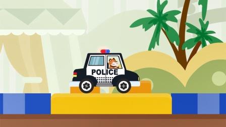 动物汽车大冒险,开着一辆警车来冒险