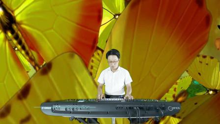 《爱我中华》电子琴音乐