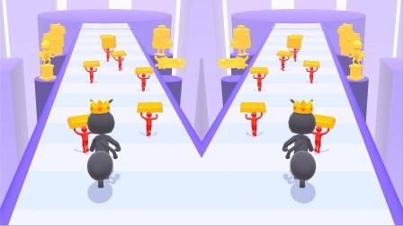 蚂蚁快跑:大蚂蚁把黄金堆成了一个塔。