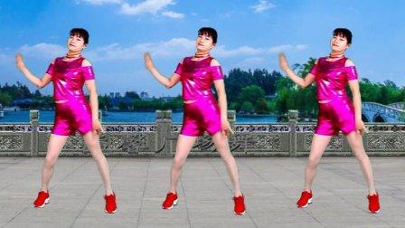热门歌曲广场舞《夜之光》流行摆胯健身舞 附正反面分解教学
