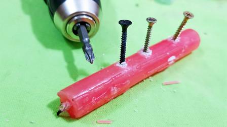 螺丝刚拧到一半就打滑上不动,卡死在木板里怎么办?教你轻松维修