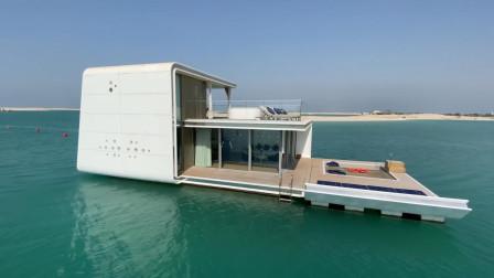 将卧室盖在海底,每天看着鱼群入睡,迪拜土豪的海洋别墅
