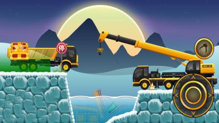 全能老司机模拟游戏,翻斗车和吊车运输货物