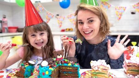 聪明能干的小姐妹为妈妈做蛋糕,好厉害呀