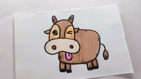 简笔画.老黄牛