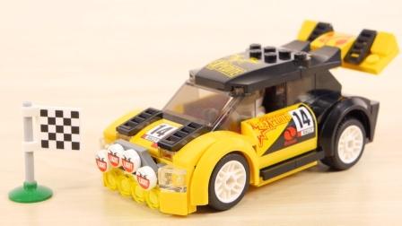 乐高汽车工程车玩具故事:乐高小人拼装好的积木汽车实在太酷了!