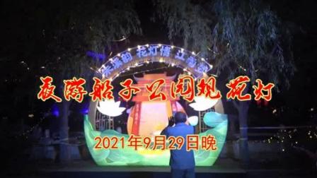 夜游船子公园观花灯