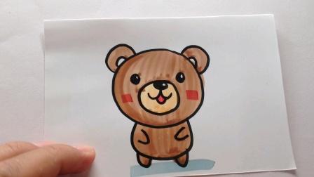 简笔画.可爱的小熊熊