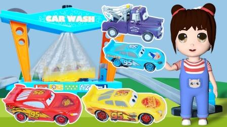 乐乐拆箱:赛车总动员的变色汽车玩具