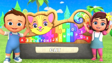小猫ABC积木拼图