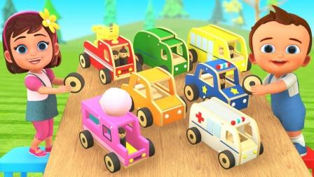 认识海陆空交通工具 宝宝识交通工具 DIY组装汽车玩具