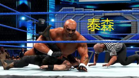 重量级拳王泰森参加WWE摔跤比赛,果然拳头硬的人在哪都是冠军?