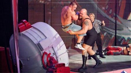 最后站立赛,塞纳被大秀哥一发锁喉砸进机器,瞬间爆炸!