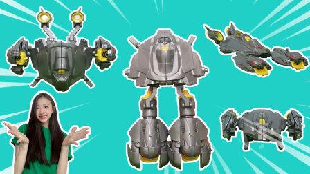 舒克贝塔:超级磁力拼装飞碟变螃蟹