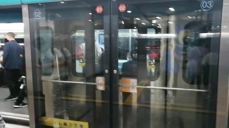 北京京港地铁4号线088号车北京南站出站(天宫院站方向)