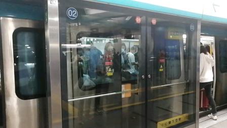北京京港地铁4号线079号车北京南站出站(天宫院站方向)
