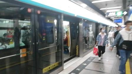 北京京港地铁4号线014号车北京南站出站(公益西桥站方向)