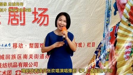 豫剧优秀演员张欢唱演唱豫剧《天上太阳赶月亮》现场视频