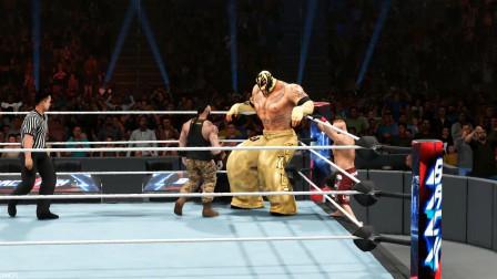 WWE加宽版619大腿比腰还粗,3位对手遇到强敌