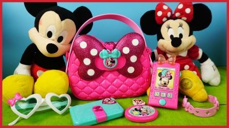 会跳舞的米奇与迪士尼米妮可爱包包惊喜玩具