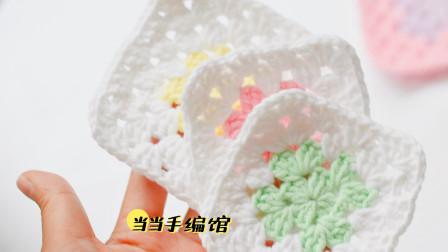 祖母方格织片毯子钩织缝合教程
