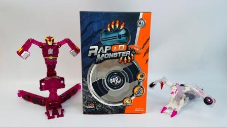 盟卡车神变形机器人玩具拆趣味玩具,激光高速迷你小汽车!