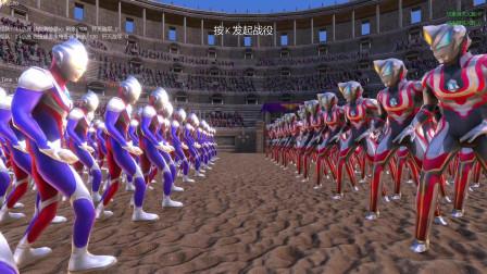 史诗战争模拟器:一百名迪迦奥特曼VS一百名终极形态捷德奥特曼