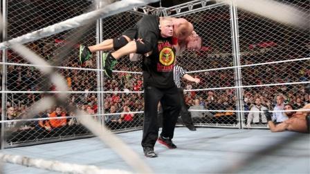 猛兽布洛克闯进铁笼,塞纳惨遭后抛摔洗礼!