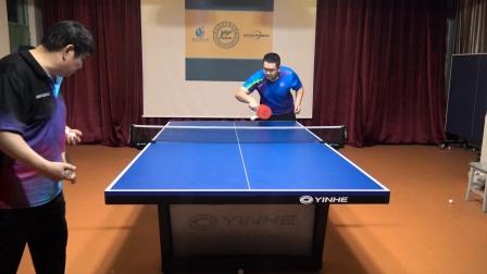 乒乓球反手长胶万能接发球方法,只用一招解决所有接发球问题!