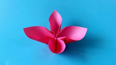 教你折纸立体花,简单易学,折纸王子儿童折纸教程
