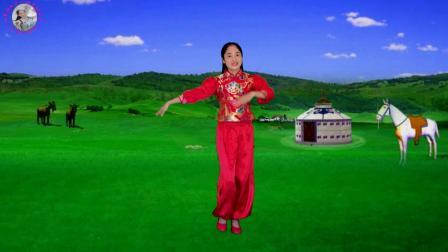 山歌DJ广场舞《我是云南小姑娘》节奏欢快,舞步动感,附教学