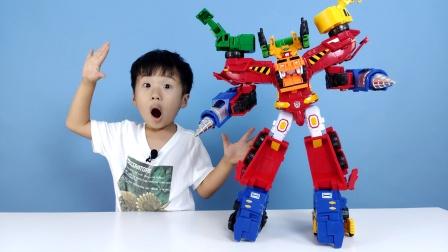 咖宝车神六合一汽车玩具,亲子互动玩具开箱