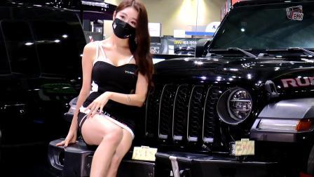 2021汽车沙龙周美女车模掠影💦~闵彩允+林瑞雅