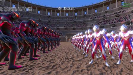 史诗战争模拟器:一百名迪迦奥特曼VS一百名贝利亚奥特曼
