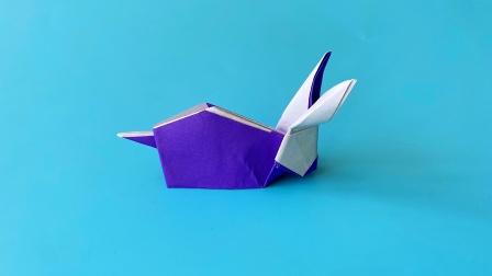 教你折纸卯兔,简单易学,折纸王子儿童折纸教程