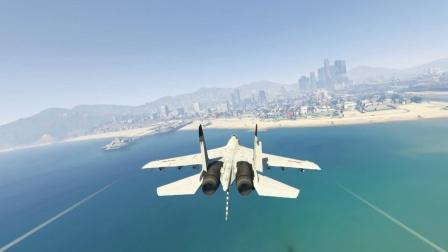 麟飞:歼15战斗机降落沙滩精彩瞬间